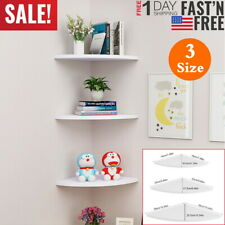 3 Tiers Floating Corner Shelf Wall Storage Display Rack Organizer Home Decor Us