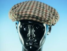 MARKS & SPENCERS: MEN'S TWEED HOUNDS TOOTH FLAT CAP (SIZE LARGE)