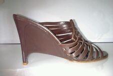 New Bottega Veneta wedge brown leather sandals size EU 40