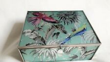 Butterfly By Matthew Willamson  Floral Keepsake Glass Box