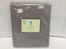 Pottery Barn Kids washed out CHAMBRAY bed sheets twin CHOCOLATE gray 100% cotton