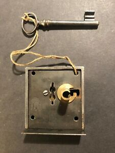 Antique lock & key, c1880