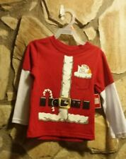 Holiday Time Kids Christmas Long Sleeve Graphic Tshirt 2T New