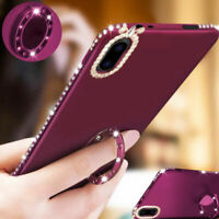 Shockproof Bling Glitter Crystal Diamond Kickstand Case Cover For iPhone XS XR 8