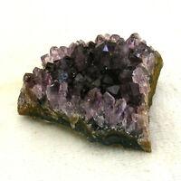 Uruguayan Dark Amethyst Quartz Crystal Cluster Natural Geode Section 50g 5cm
