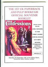 1st UK PB & PULP BOOKFAIR SOUVENIR BOOK, rare 1991 British digest mag, HEADE