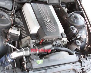 Black Blue For 1993-2001 BMW 740 740i 740iL M60 M62 E38 Air Intake Kit + Filter