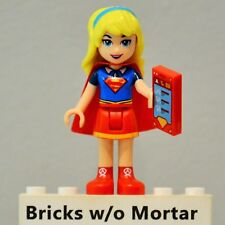 New Genuine LEGO Super Girl Minifig with Red Skirt DC Super Heroes Girls 41232