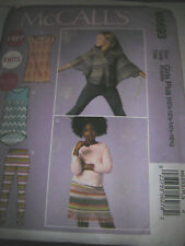 Girls Clothing Pattern McCall's EasyKnits Plus Sz 10 1/2-16 1/2 TopSkirtPant NIP