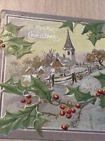Postcard, Vintage 1907 Merry Christmas Greetings Embossed Postcard P44