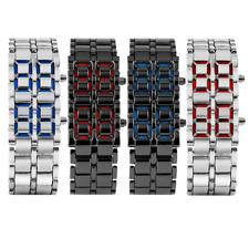 LED Faceless Digital Wristwatch Stainless Steel Bracelet Watch Electronic Watch