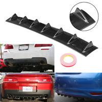 "33x5"" Universal Lower Rear Bumper Diffuser Spoiler Lip Shark 7 Fin Carbon Fiber"