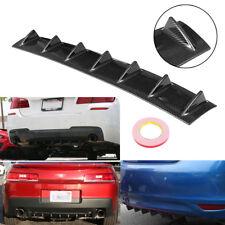 "33x5"" Universal Lower Rear Body Bumper Diffuser Shark 7 Fin Kit Spoiler Carbon"