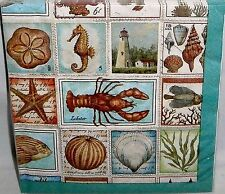 "Luncheon Napkins 20 Ct 2-Ply SEASHORE COLLAGE 12 7/8"" X 12 3/4"""