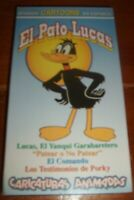 Vintage video vhs in Spanish Daffy Duck Porky Looney Tunes cartoons children