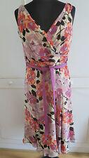 Hobbs women's silk multicolored floral summer dress  sz UK12 EU38US8