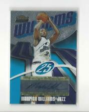 2003-04 Finest #153 Maurice Williams RC AUTOGRAPH Jazz /999