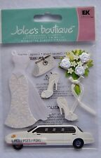 Jolee's NEW PACK 3D BRIDE Stickers LIMO BOUQUEST WEDDING DRESS AND ACCESSORIES