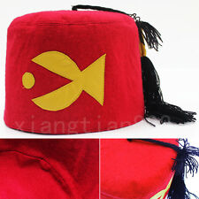 Anime Gravity Falls Stanly Pines Hat Cap Red Tassels Otaku Cosplay Costume Cute
