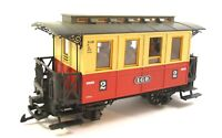 LGB Personenwagen 2. Klasse beige/rot Spur G Figuren