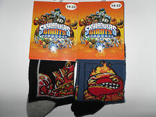 2 x Skylanders Giants Socken/Strümpfe* 19/22 *Schwarz/Blau mit Motiv *Neu (T63)