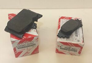LEXUS OEM FACTORY F-SPORT FRONT AND REAR BRAKE PAD SET 2013-2015 GS350 2WD