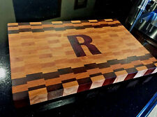 Personalized End Grain Cutting Board with Custom Inlay