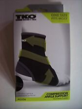 TKO Sleeve Ankle Compression Support Sz Select Black Neoprene Left Right NIP