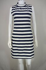 Women's French Connection size 8 Stretch Shift Dress Blue/White Striped NEW NWT
