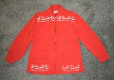 Vintage Mountaineer Cloth for Sun Valley Womens Red Holiday Jacket Reindeer sz M