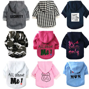 Boy Pet Dog Cat Small dog Clothing T-Shirt Girl Puppy Hoodie Coat Clothes XS S M