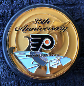 Bronze Hockey Puck Philadelphia Flyers Puck Metal Insert Others Listed 35th Ann