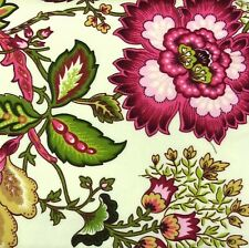 WAVERLY Classic Jacobean Floral Drapery Panel NEW Pink Green Gold Cream FABRIC