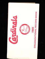 st. Louis Cardinals 1985 Organization Record Sketch Book