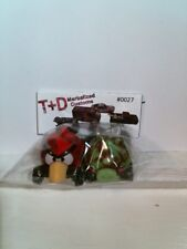 T+D Marbleized Custom Hot Wheels One of a Kind Angry Bird and Pig - Red/Green