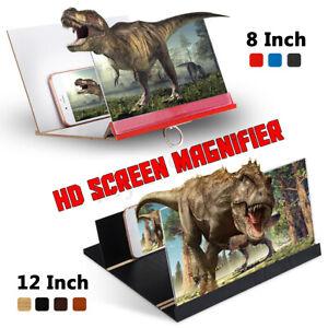 "8""/12"" 3d mobile phone screen ""enlarge lens HD video amplifier"