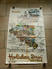 Ancienne affiche pub - HOLIDAY INN HOTELS Benelux - JACANO - dédicacée - 1983