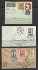Portugal India 1950 3 cvoers, 2 FDC, and one stationery to USA
