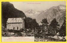 cpa CAUTERETS (Htes Pyrénées) REFUGE RUSSELL à CULAUS Drapeau TCF Louis FALISSE