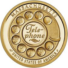 "2020 P&D Massachusetts Innovation 1$ Telephone Dial  ""Pre-Sale"" Mint Rolls Only"