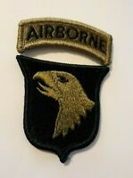 101st Airborne Division OCP Patch & Airborne Regulation Tab W/ Hook  Made in USA