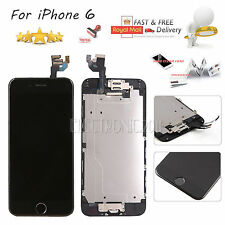 For iPhone 6 Replacement Digitizer Genuine LCD Touch Screen Black Home Button