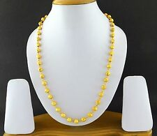 Indian Bollywood Bridal Jewelry Gold Plated Fashion Necklace Chain/Mala New Set