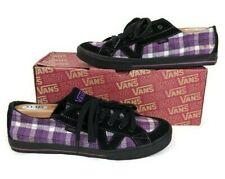 Details about Vans Schuhe Tory VNOXFQ1CJ Flannel Plaid Black Suede Purple Lila Sneaker Size 9