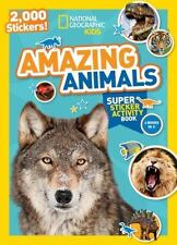 National Geographic Kids: Amazing Animals Sticker Activity Book c2015 NEW PB