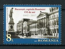 Romania 2017 MNH Bucharest Capital 155 Years 1v Set Architecture Tourism Stamps