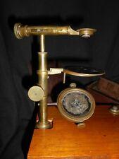 ANCIEN SIMPLE MICROSCOPE VINCENT CHEVALIER 69 quai de l horloge ANTIQUE BRASS