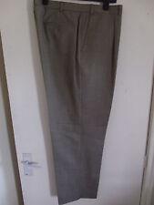 "M&S Collizione Men's Neutral Pin Check Formal/Suit Trousers W42"" L31"" Wool/Cash"