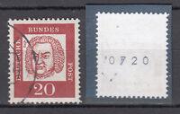 BRD 1961 Mi. Nr. 352 y R Gestempelt Rollmarke mit Nr. TOP!!! (20096)