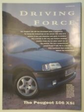 PEUGEOT 106 XSi orig 1992 1993 UK Mkt Publicity Brochure - with GQ Magazine